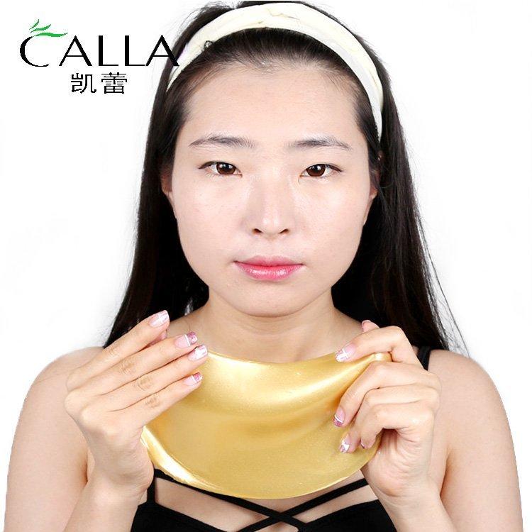 24K Gold Collagen Crystal Moisturizing Firming Neck Mask