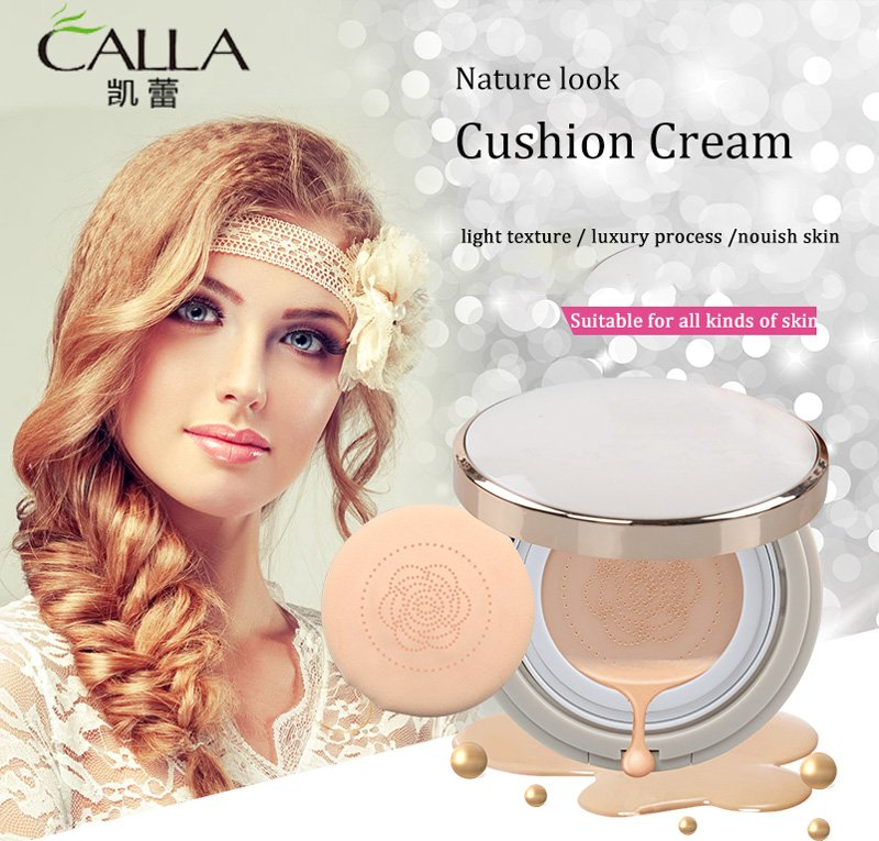 Calla-Natural Korean Cushion Foundation Whitening Air Cc Cushion-1