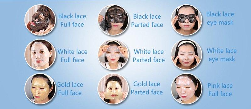 Calla-Eyes Beauty Hyaluronic Acid Collagen Skin Care Lace Eye Mask | Eye Mask-4