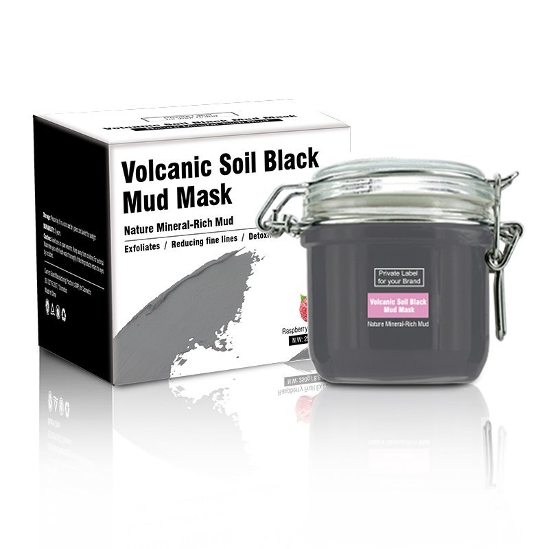 Mud Mask Volcanic Soil Black Nature Mineral-Rich Clay Deep Cleanse