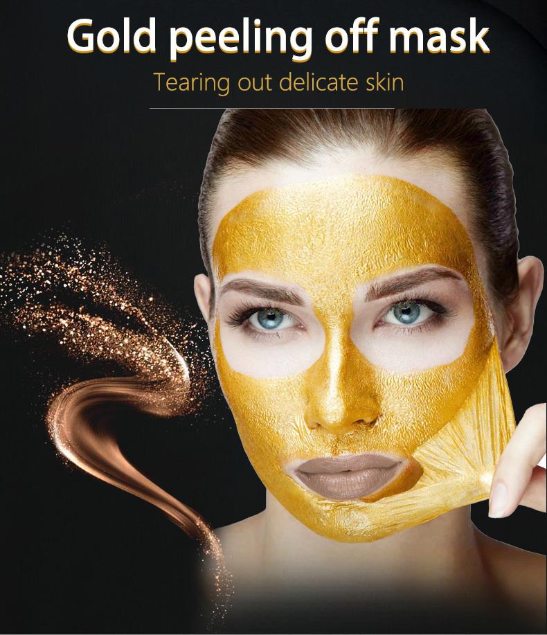 Gold peeling off mask