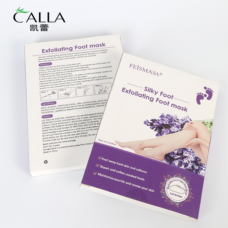 Exfoliating Foot Peeling Mask Private Label Lavender Feet Care