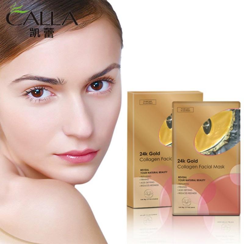 Calla-High Quality Anti-wrinkle 24k Gold Powder Crystal Facial Mask