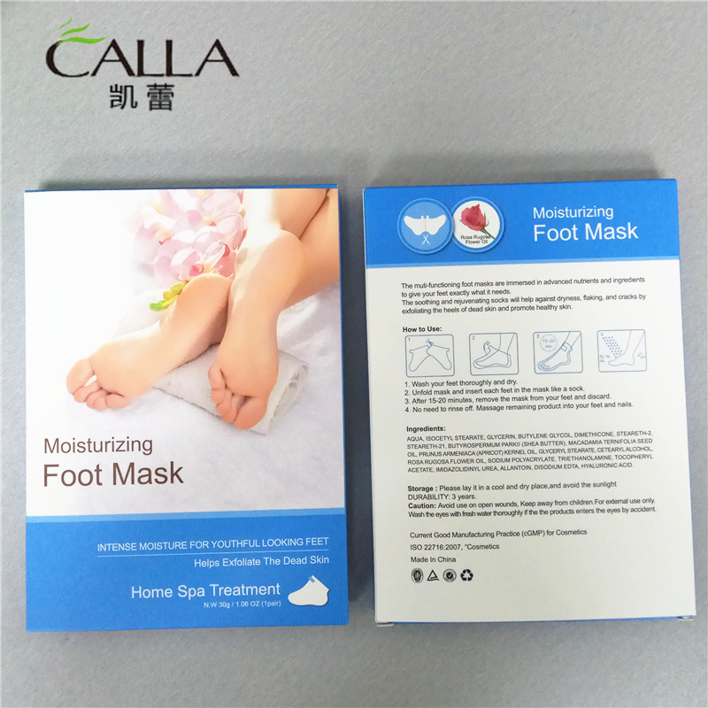 Non woven Sock Moisturizing Korea Foot Skin Care For OEM