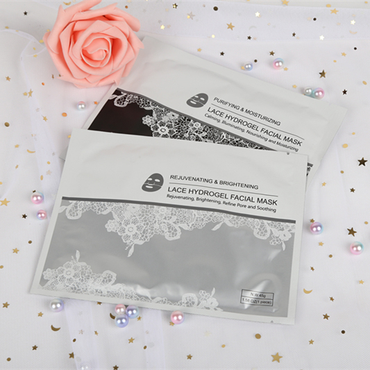 Firming Repairing Facial Korea Lace Sheet Face Mask With High Quality