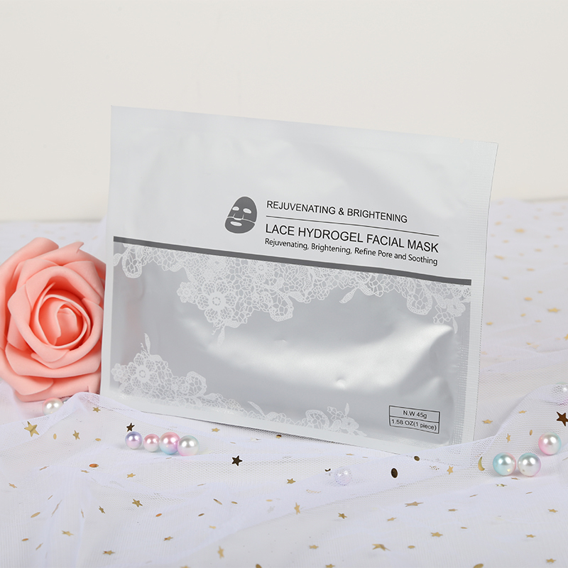 Hydro Gel Moisturizing Face sheet Collagen Lace Facial Mask Hot Sale