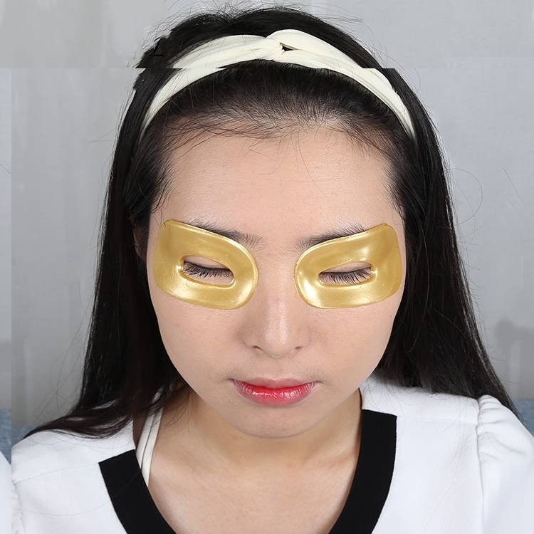 Pure 24k Nano Gold Hyaluronic Acid Collagen Crystal Eye Mask For Dark Circle
