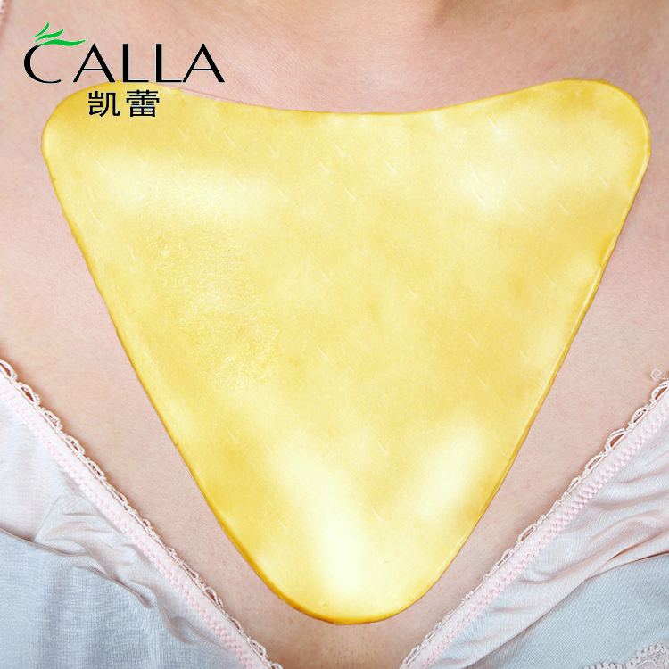 Best Silicone Gel Anti Wrinkle Gold Collagen Decollete Chest Pad