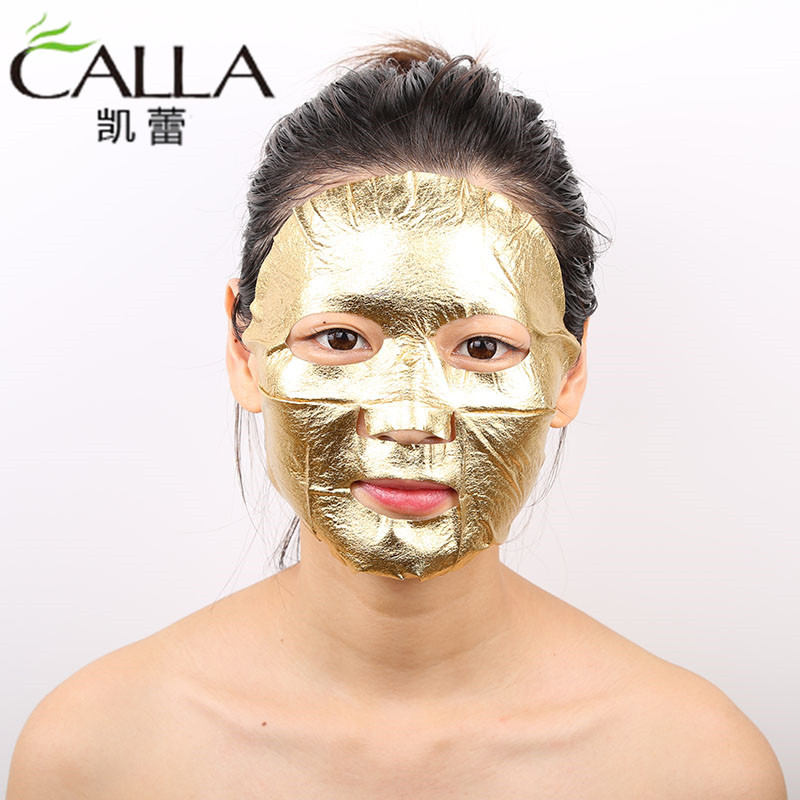 Wholesale 24k Gold Face Sheet Metallic Foil Mask
