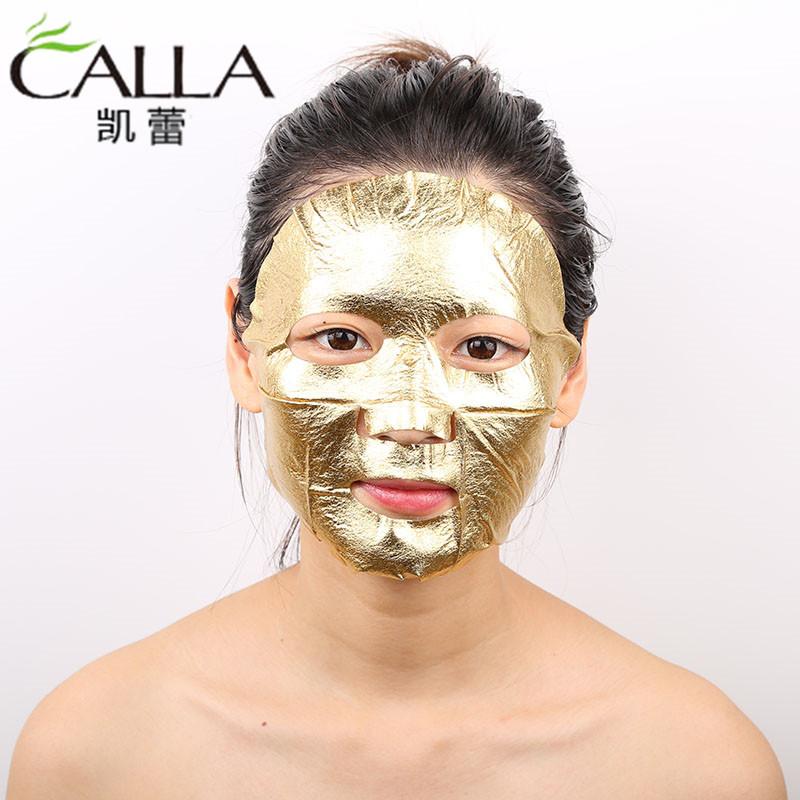Wholesale 24k Gold Face Sheet Metallic Foil Mask