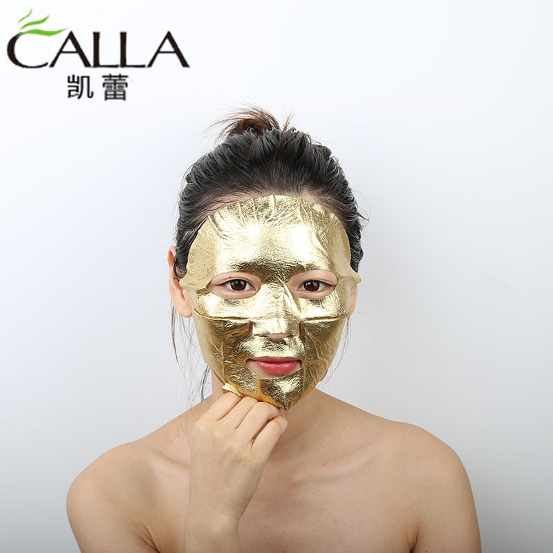 New Arrival 24k Facial Metallic Gold Foil Face Mask Sheet