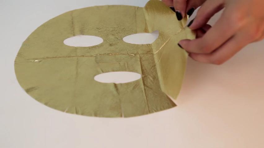 24k Real Foil Layer Anti Wrinkle Facial Gold Leaf Mask For Spa