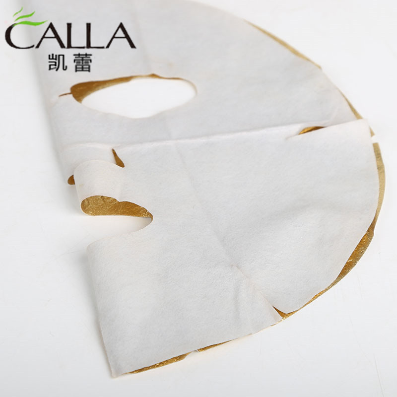 24k Real Foil Layer Anti Wrinkle Facial Gold Leaf Mask For Spa