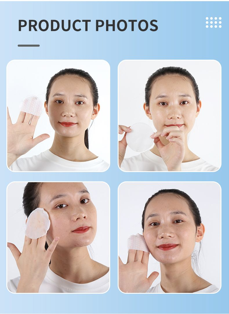 product-Direct Factory Supply Facial Cotton Makeup Remover Wipes Exfoliator Cleaning Pad-Calla-img