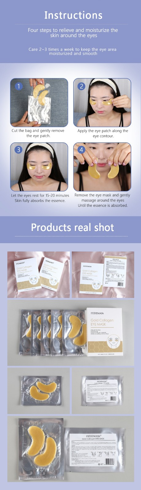 product-Eye Patch Anti-aging Hyaluronic Acid Crystal Collagen Under Eye Mask-Calla-img