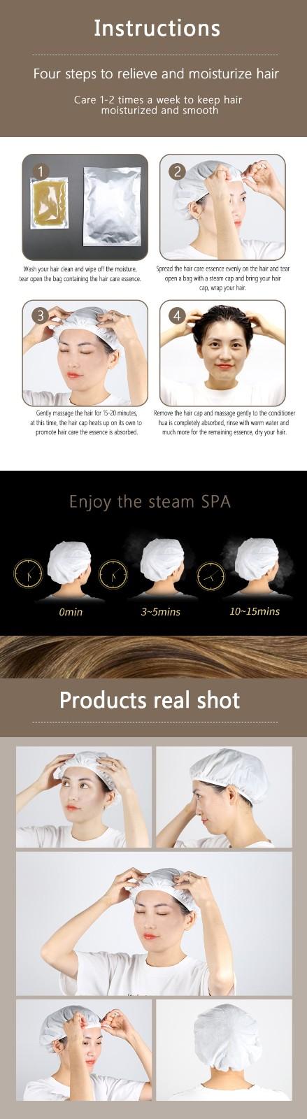 product-Hair Cap Mask self heating hair treatment Moisturizing Disposable-Calla-img