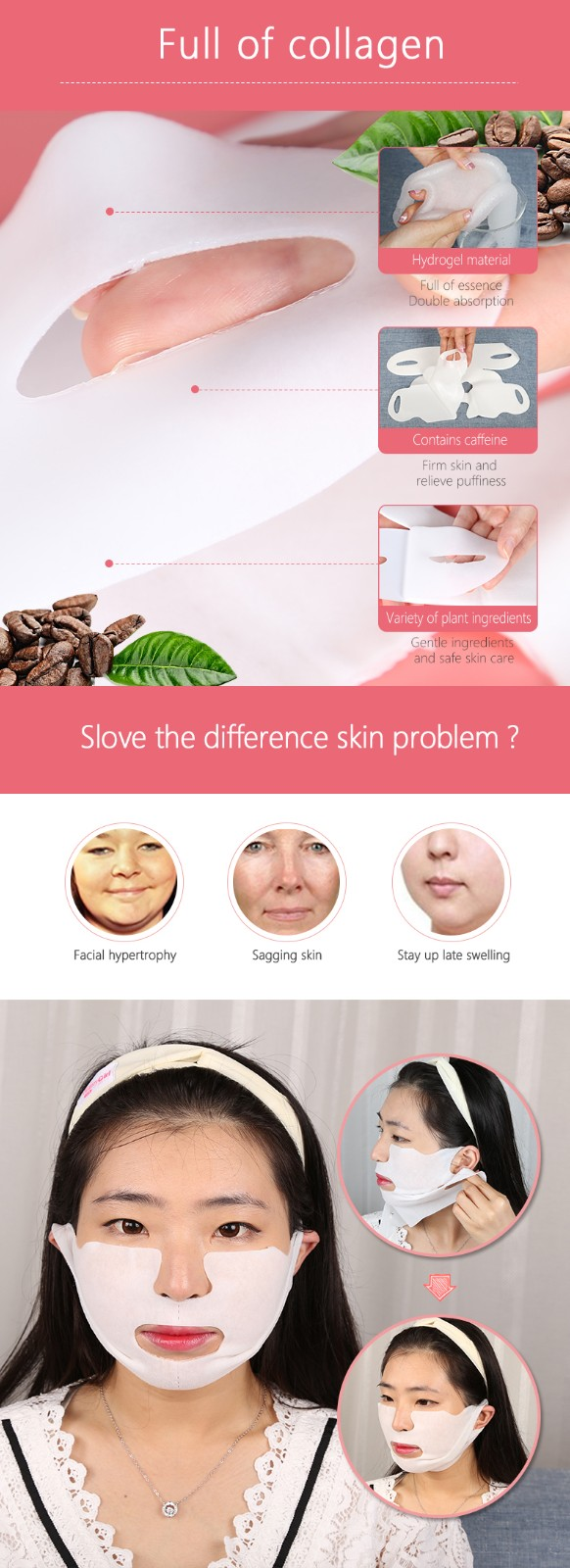 product-V Line Facial Mask Face Lifting Lift Up Anti-wrinkle Tightening Firming-Calla-img