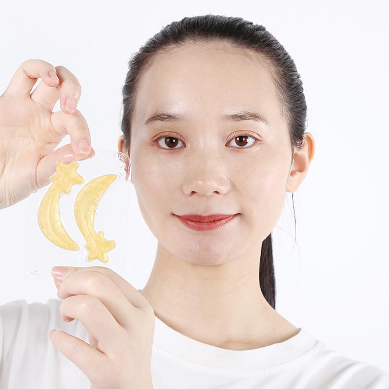 Eye Patch 24k Gold Yeallow Love Type Star Collagen Removes Dark Circle Under Eye Mask