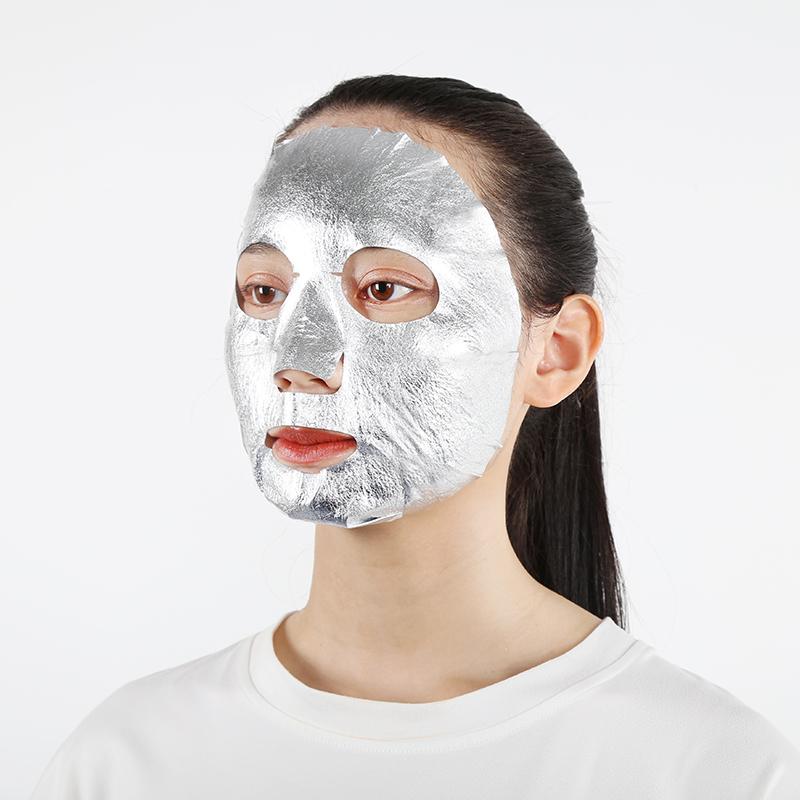 Silver Facial Mask Sheet Pure 24k Leaf Gold Foil Paper Moisturizing Whitening