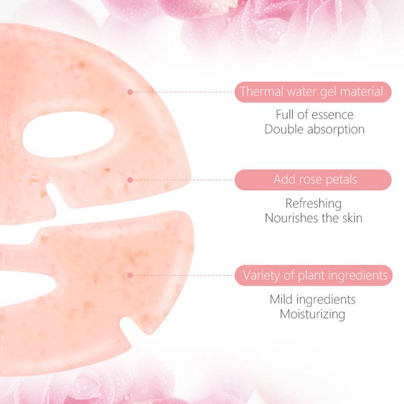 Facial Mask OEM Anti-wrinkle Tightening Collagen Cosmetic Crystal Hydrogel Hydrating Whitening Nourishing