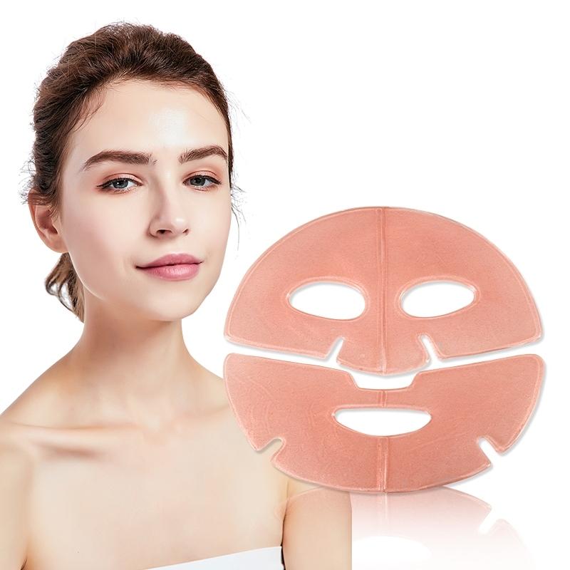 Pink Facial Mask OEM Tightening Anti-wrinkle Collagen Crystal Hydrogel Hydrating Whitening Nourishing